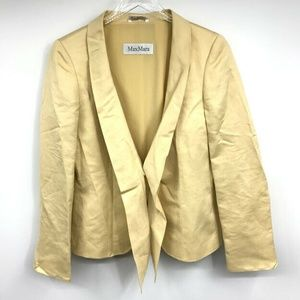 Max Mara Bow Blazer Jacket 8 Draped Shawl Collar L